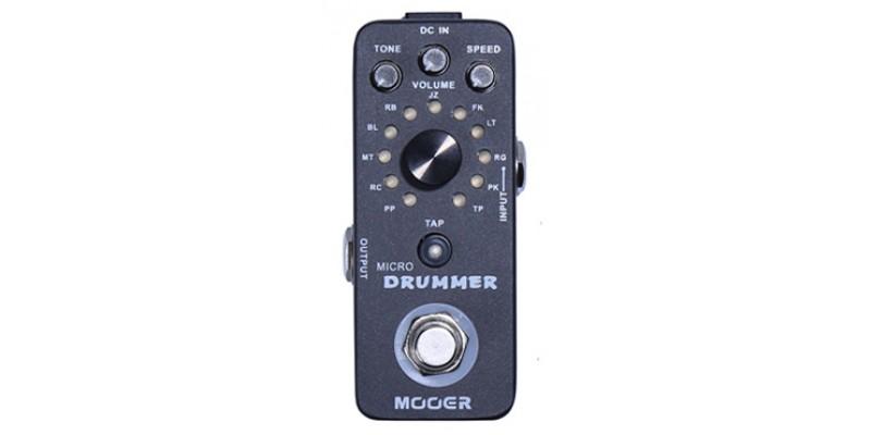 MOOER Micro Drummer MDM1 Pedal Drum Machine Top