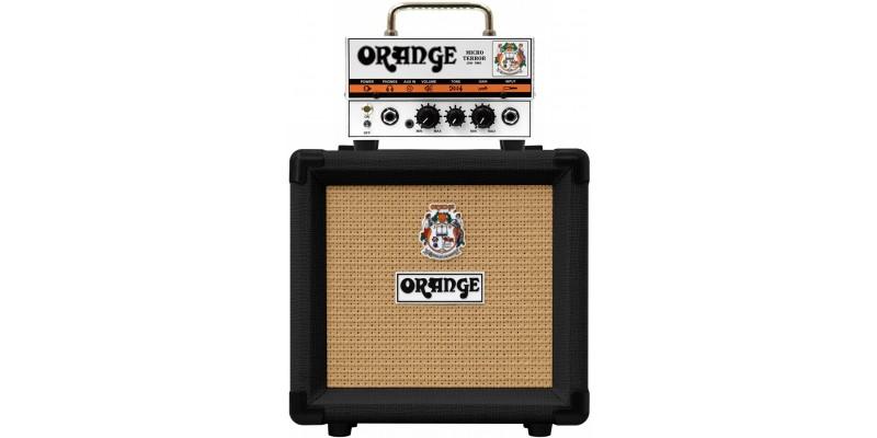 Orange Micro Terror PPC108 Black Half Stack Amplifier Package