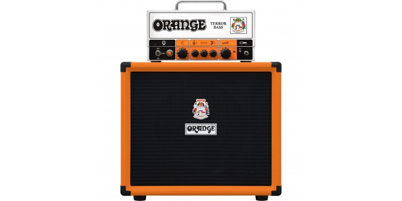 Orange Terror Bass 2 with OBC-112 Half Stack Package