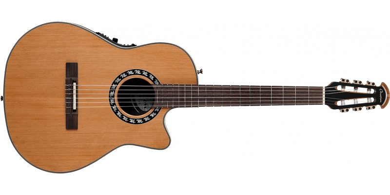 Ovation 1773AX-4 Timeless Classic Nylon Mid Depth Natural Front