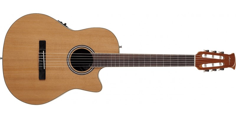 Ovation Applause AB24CII-CED Standard Nylon Mid Depth Natural Front