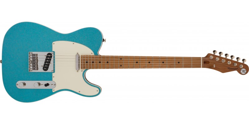 Rerverend-Pete-Anderson-Eastsider-T-Gloss-Aqua-Sparkle,-Roasted-Maple-Front