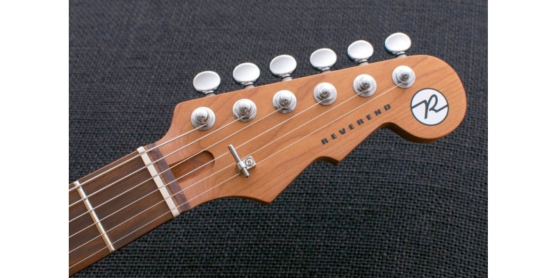 Reverend Double Agent W Natural Flame Maple Roasted Maple Neck