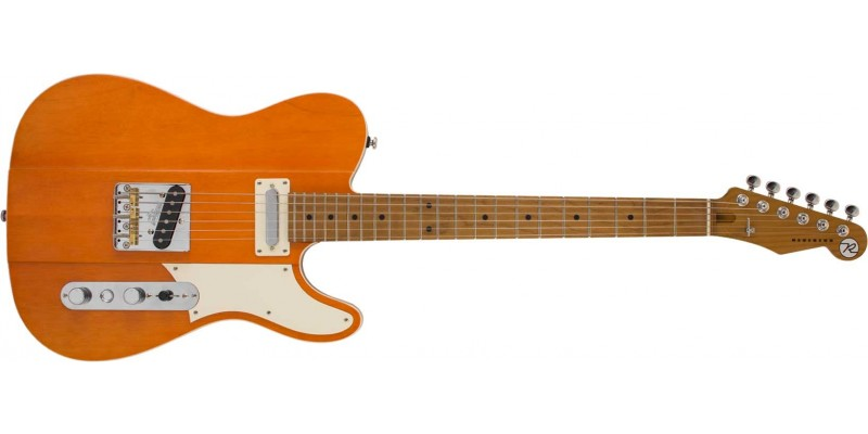 Reverend Greg Koch Signature Gristlemaster Kochwork Orange, Roasted Maple