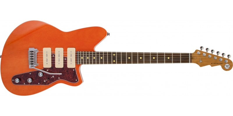 Reverend-Jetstream-390-Rock-Orange,-Roasted-Maple-Front