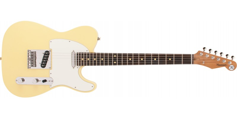 Reverend Pete Anderson Eastsider T Satin Powder Yellow, Roasted Maple Front