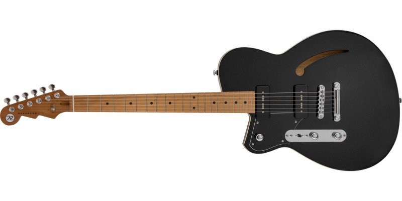 Reverend-Stu-D-Baker-Signature-Left-Handed-Midnight-Black-Roasted-Maple-front