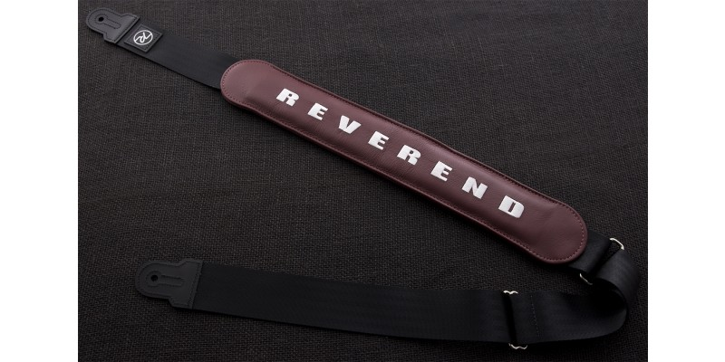 Reverend Padded Guitar Strap Medieval Red Main