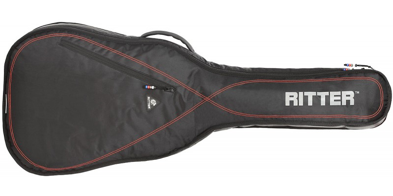 Ritter Performance RGP2-C Classical Guitar Gig Bag Black Red