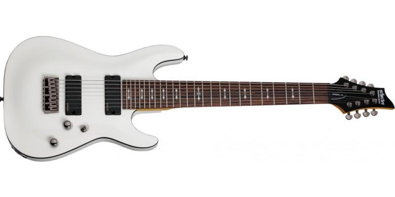 Schecter Omen-8 Vintage White 8 String Guitar