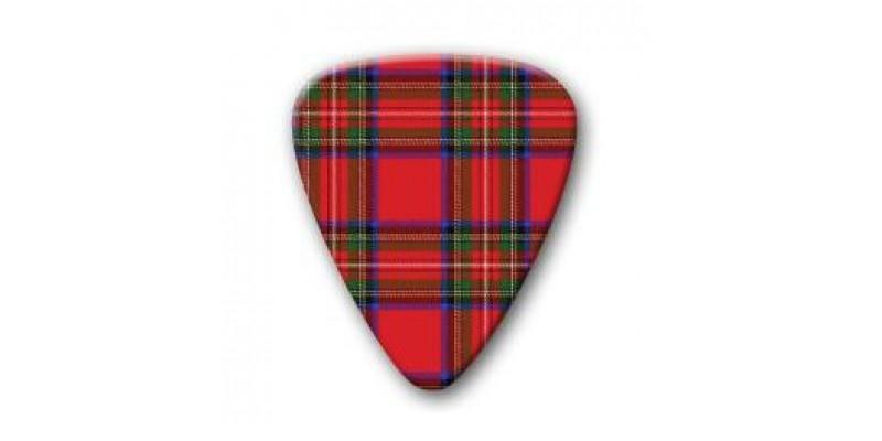 Scottish Red Tartan Plectrum Guitar Pick