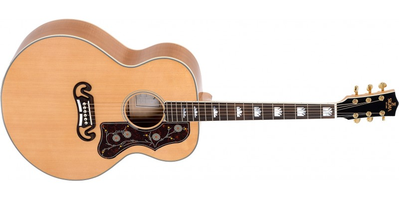 Sigma GJA-SG200 Jumbo Electro Acoustic Antique Natural Front