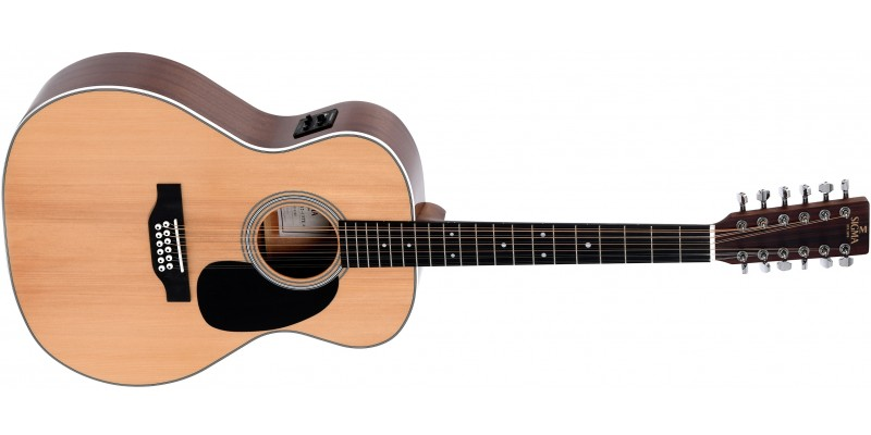 Sigma JM12-1STE+ Electro-Acoustic 12-String Guitar Front