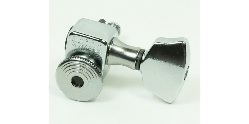 Sperzel Trim-Lok Locking Machine Heads 3-a-side Chrome Front