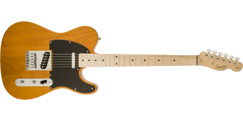 Squier Affinity Telecaster Electric Guitar Butterscotch Blonde Front