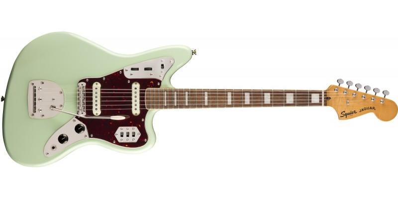 Squier Classic Vibe '70s Jaguar Surf Green Front