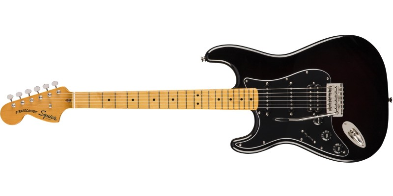 Squier Classic Vibe '70s Stratocaster HSS Left-Handed Black Front