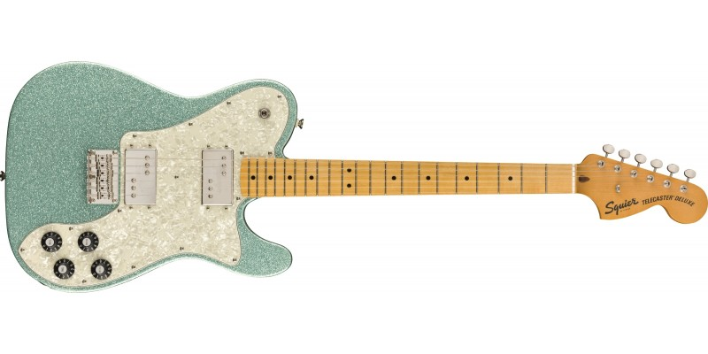 Squier FSR Classic Vibe '70s Telecaster Deluxe Sea Foam Sparkle Front