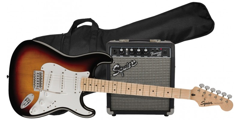 Squier FSR Stratocaster Electric Guitar Pack 3-Colour Sunburst Main