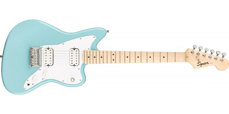 Squier Mini Jazzmaster HH Daphne Blue Front