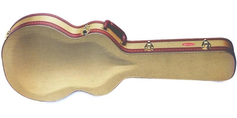 Stagg Gcx Sa Gd Gold Tweed Semi Acoustic Guitar Case Uk Merchant City Music Glasgow Guitar Co Uk