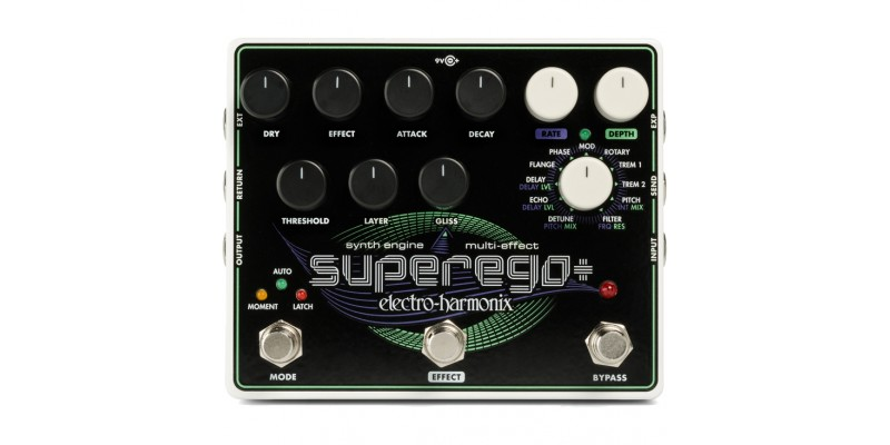 Electro-Harmonix Superego Plus Guitar Synth Engine / Multi Effect Pedal Front