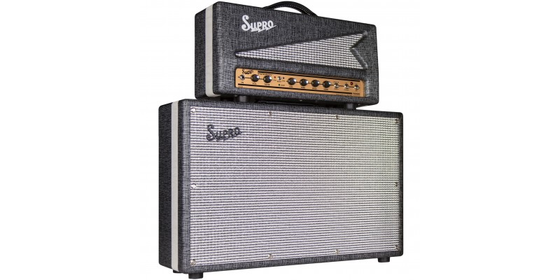 Supro-1699R-Head-With-1799-Statesman-2-x12-Half-Stack-Pack Front