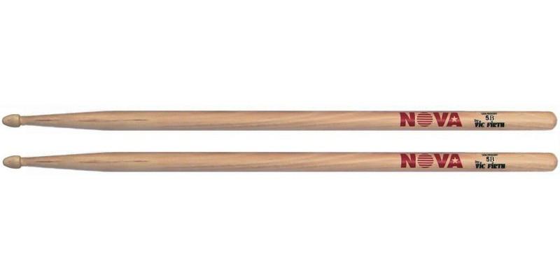 Vic Firth Nova 5B Drumsticks USA Hickory Wooden Tip