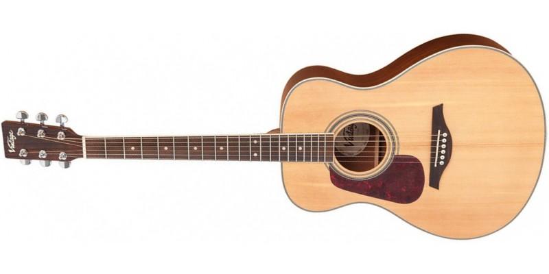 Vintage-V300-Left-Handed-Acoustic-Guitar-Starter-Package-Natural-Front