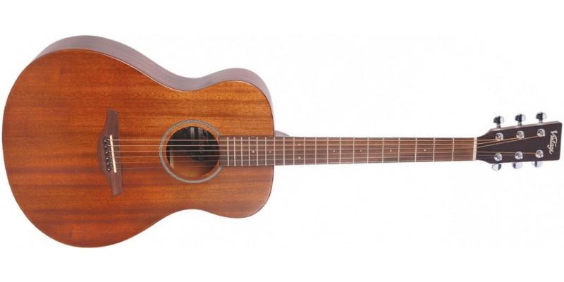 Vintage V300 Acoustic Guitar Starter Package Mahogany Front