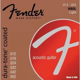 Fender 880L Dura Tone Coated Acoustic Guitar Strings 80/20 12-52