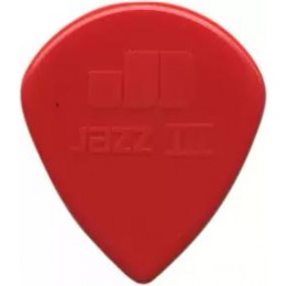 Dunlop Nylon Jazz III Red 1.38mm Plectrum Guitar Pick