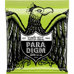 2021 Ernie Ball Paradigm Regular Slinky Electric Guitar Strings 10-46 Gauge Front