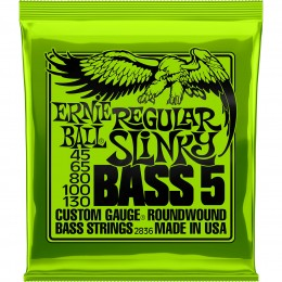2836 Ernie Ball Regular Slinky 5 String Bass Nickel Wound 45-130
