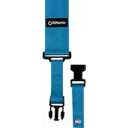 DiMarzio ClipLock Quick Release Guitar Strap 2 Inch Nylon, Blue