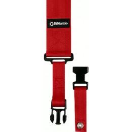 DiMarzio ClipLock Quick Release Guitar Strap 2 Inch Nylon, Red