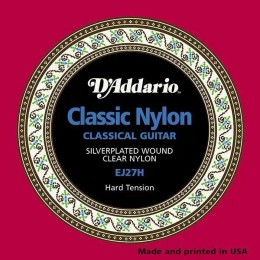 D'Addario EJ27H Student Nylon, Hard Tension Strings