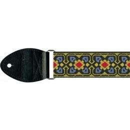 Souldier GS0738BK02BK60 Fillmore Blue Yellow Guitar Strap