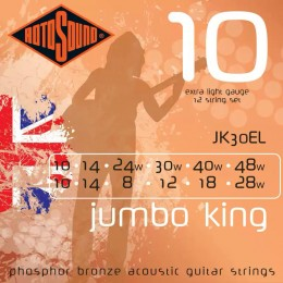 Rotosound JK30EL Jumbo King 12-String Set 10-48