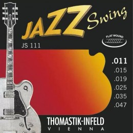 Thomastik-Infeld JS111 Light Flatwound Jazz Swing Electric Guitar Strings 11-47