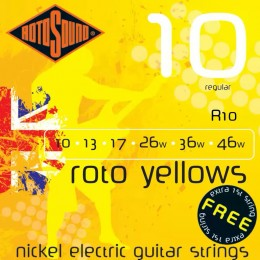 Rotosound R10 Roto Yellows 10-46 Guitar Strings