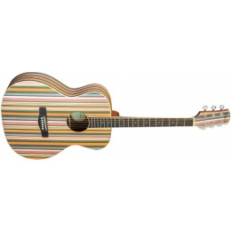Adam Black OM-RB Acoustic Guitar Rainbow Front