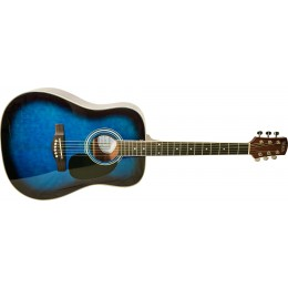 Adam Black S2 Dreadnought Guitar Trans Blue