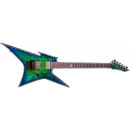 BC Rich Ironbird Extreme with Floyd Rose Cyan Blue Front