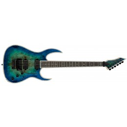 BC Rich Shredzilla Prophecy Exotic Archtop With Floyd Rose Cyan Blue Front