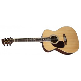 Brunswick BFL200 Left Handed Natural Folk Acoustic Guitar