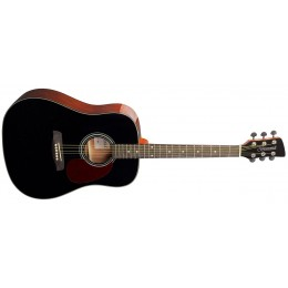Brunswick BD200 Dreadnought Acoustic Guitar Black Front