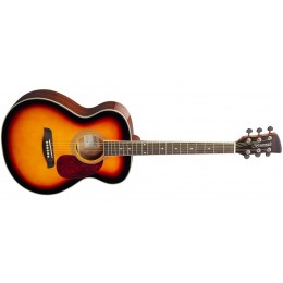 Brunswick BF200 Folk Acoustic Guitar Sunburst Gloss Front
