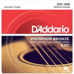 D'Addario EJ17 Phosphor Bronze Medium Acoustic Guitar Strings 13-56