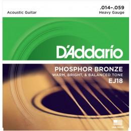 D'Addario EJ18 Phosphor Bronze Heavy Acoustic Guitar Strings 14-59